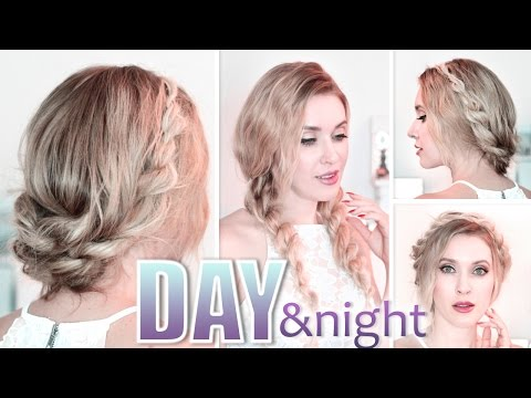 Day to night hairstyles ✿ Braided prom updo ✿ Quick, easy and cute long hair tutorial