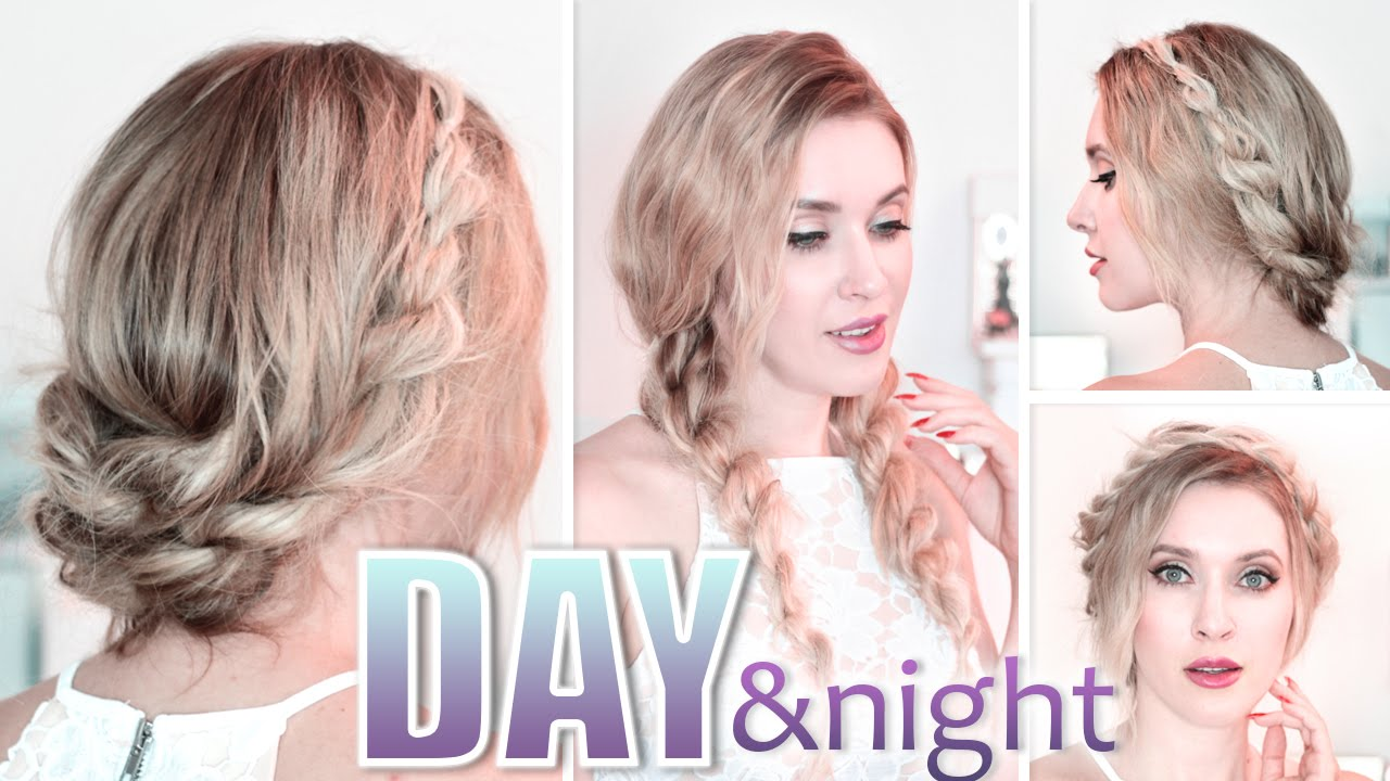 Cute Long Hair Styles: Day To Night Hairstyles Braided Prom Updo Quick, Easy And