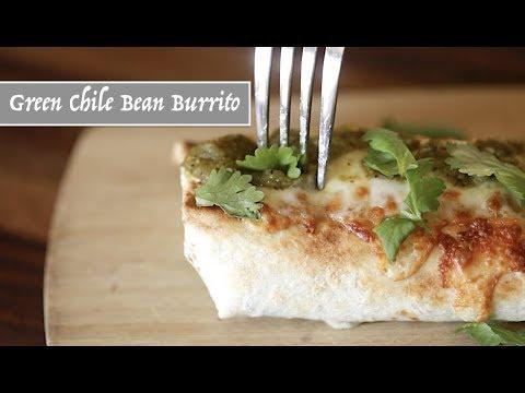 Green Chile Bean Burrito