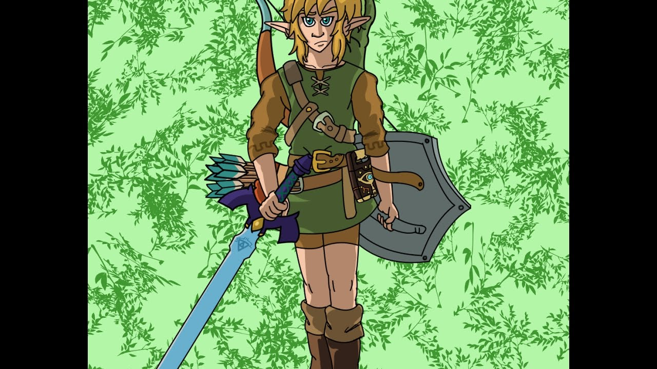 Art Legend Of Zelda Botw Link Fanart