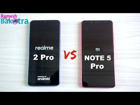 Realme 2 Pro vs Redmi Note 5 Pro SpeedTest and Camera Comparison