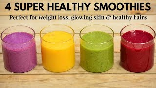 In this video i have shown 4 simple indian smoothies that you can easily make it at home with available ingredients. they are super delicious and supe...
