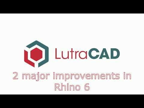 LutraCAD: Rhino 6 Performance Improvements
