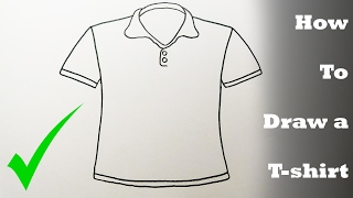 How To Draw a T-shirt step by step- VERY EASY
