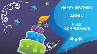 Akhil - Card Tarjeta_781 - Happy Birthday