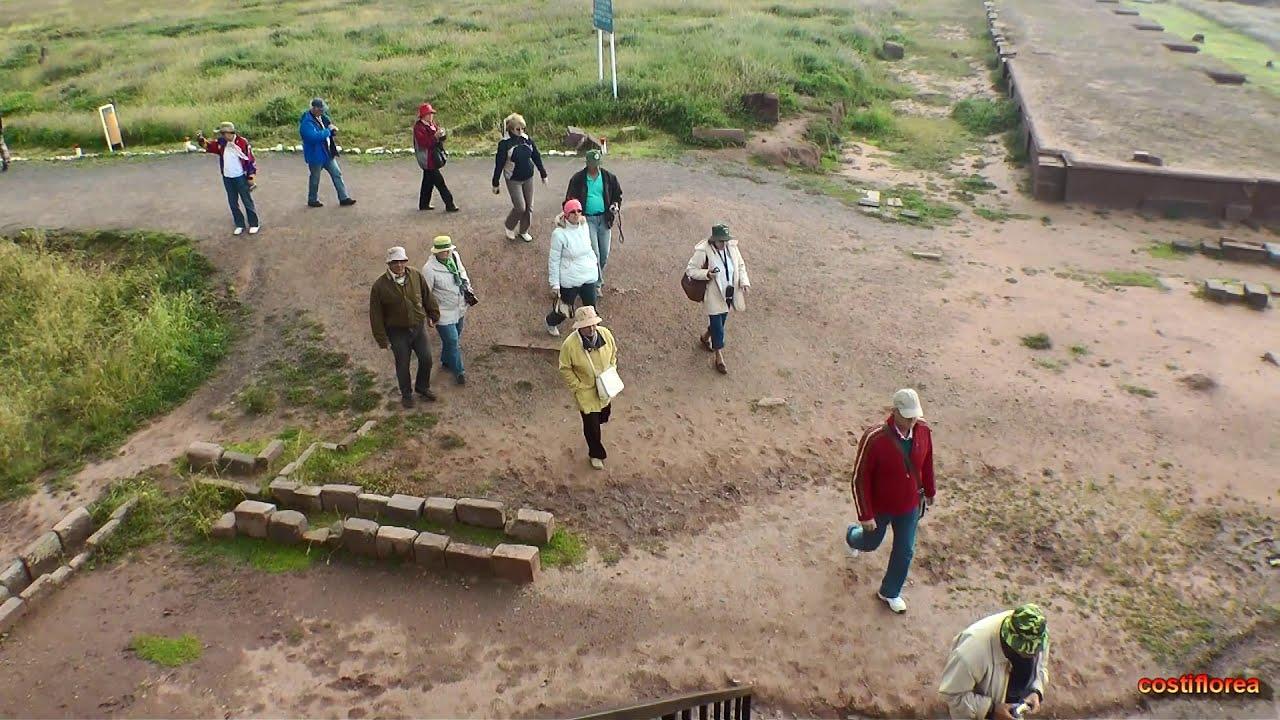 Bolivia Tiwanaku Temple Of The Sun South America Part