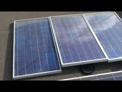 Close look at Nice Professional Home Make Solar Panel Free Energy Project