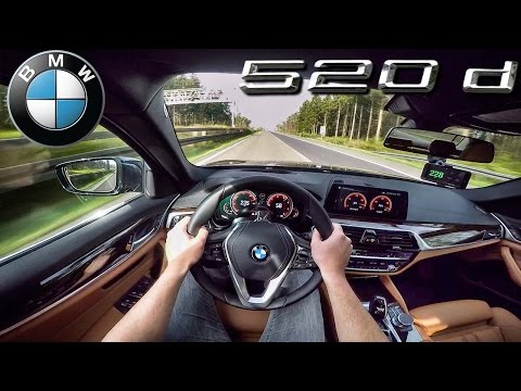 BMW 5 Series 2017 ACCELERATION TOP SPEED 520d G30 AUTOBAHN POV by AutoTopNL