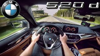 BMW 5 Series 2017 ACCELERATION & TOP SPEED 520d G30 AUTOBAHN POV by AutoTopNL