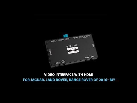 Car Video Adapter With HDMI For Jaguar, Land Rover, Range Rover Manufactured In 2016–