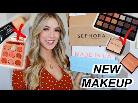 SO MUCH NEW MAKEUP! ELF + SEPHORA + COLOURPOP HAUL REVIEW | leighannsays thumbnail