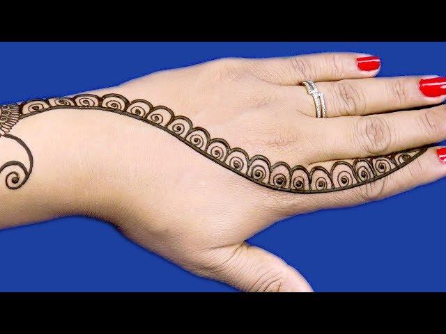 राखी के लिए बहुत सुंदर सरल आसान मेहँदी डिज़ाइन Easy Mehndi Design - Simple Mehndi Design #611