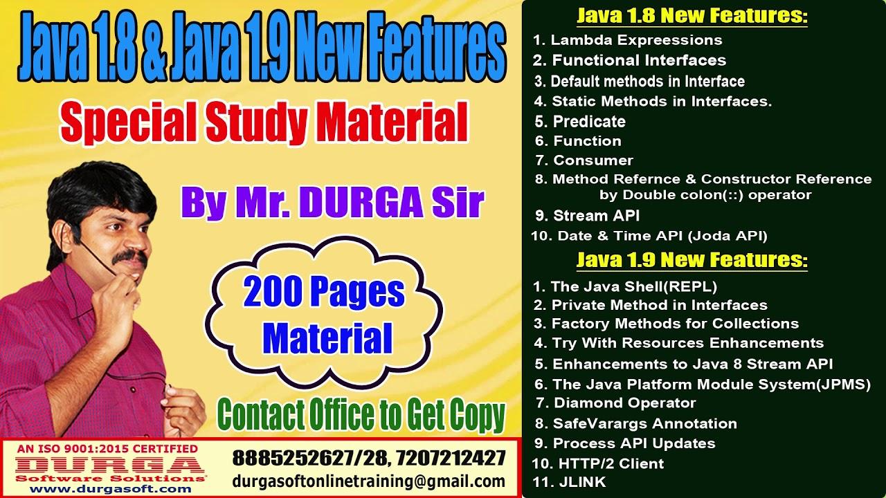 DURGA Sir Java 8 & Java 9 Study Material