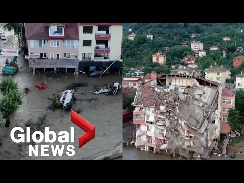 Hundreds evacuated in northern Turkey as flash floods kill at least 10 people