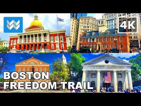 Boston Walking Tour - The Freedom Trail | Travel Guide【4K】