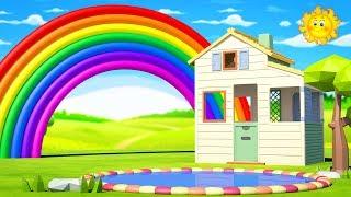 Rainbow Colors Song / Learn Colors Songs For Kids Children Toddlers Kindergarten Preschool