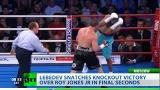 Lebedev floors Roy Jones Jr. in Moscow cruiserweight bout