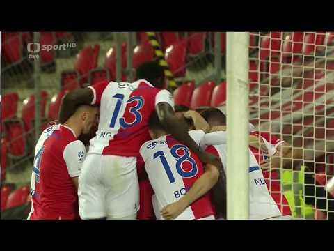 SK Slavia Praha – FK Mladá Boleslav  gol na  1-0 JOSEF HUŠBAUER