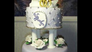 Как сделать колонны для многоярусного  торта из желатиновой мастики