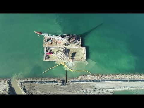 Middle harbor POLB  construction contest drone video