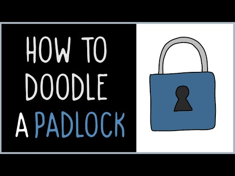 How to Draw a Padlock (drawing tips)