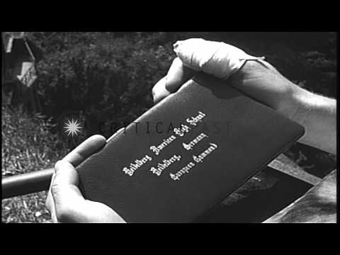American Dependent School students receive diplomas at a graduation ceremony in G...HD Stock Footage