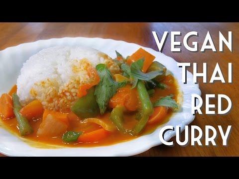 THAI RED CURRY Easy Vegan Recipe