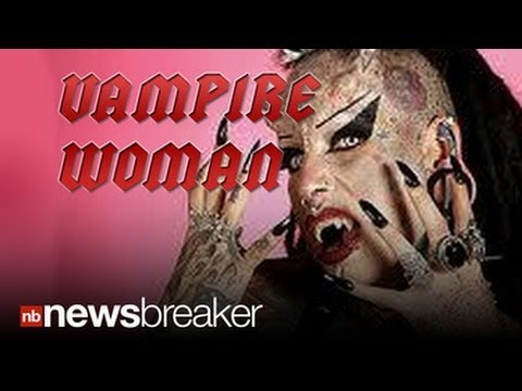 Vampire Woman Crowned Most Modified by Guinness Book of World Records For Halloween