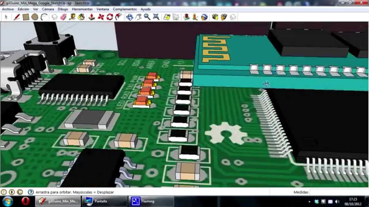 Moduino mega arduino eagle render d with google