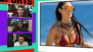 Ex-WWE Superstar Eva Marie Busts Out of All Red Bikini | TMZ Sports