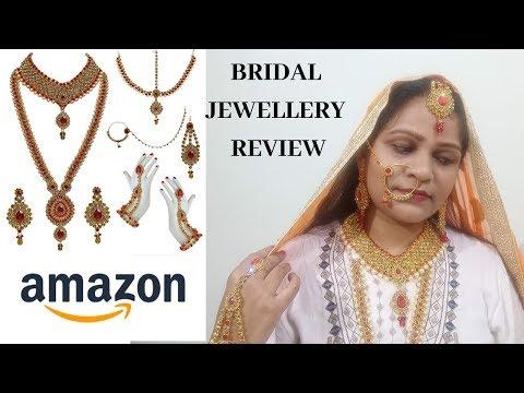 Amazon bridal jewellery set review  bridal jewellery online  full online bridal jewellery review