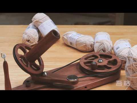 Woodworking  DIY Homemade yarn winder -01