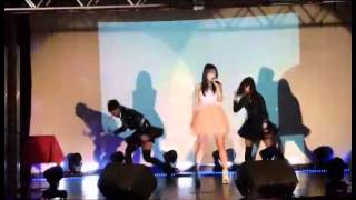 "Yurino singing ""Be My Game Boy feat S3RL"" with back up dancers. The..."