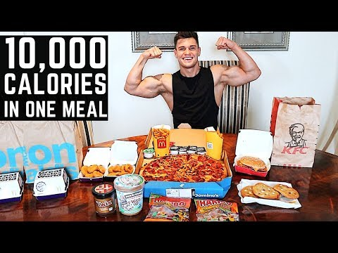 10000 Calorie Challenge IN ONE HOUR  Epic Cheat Day  Man Vs Food