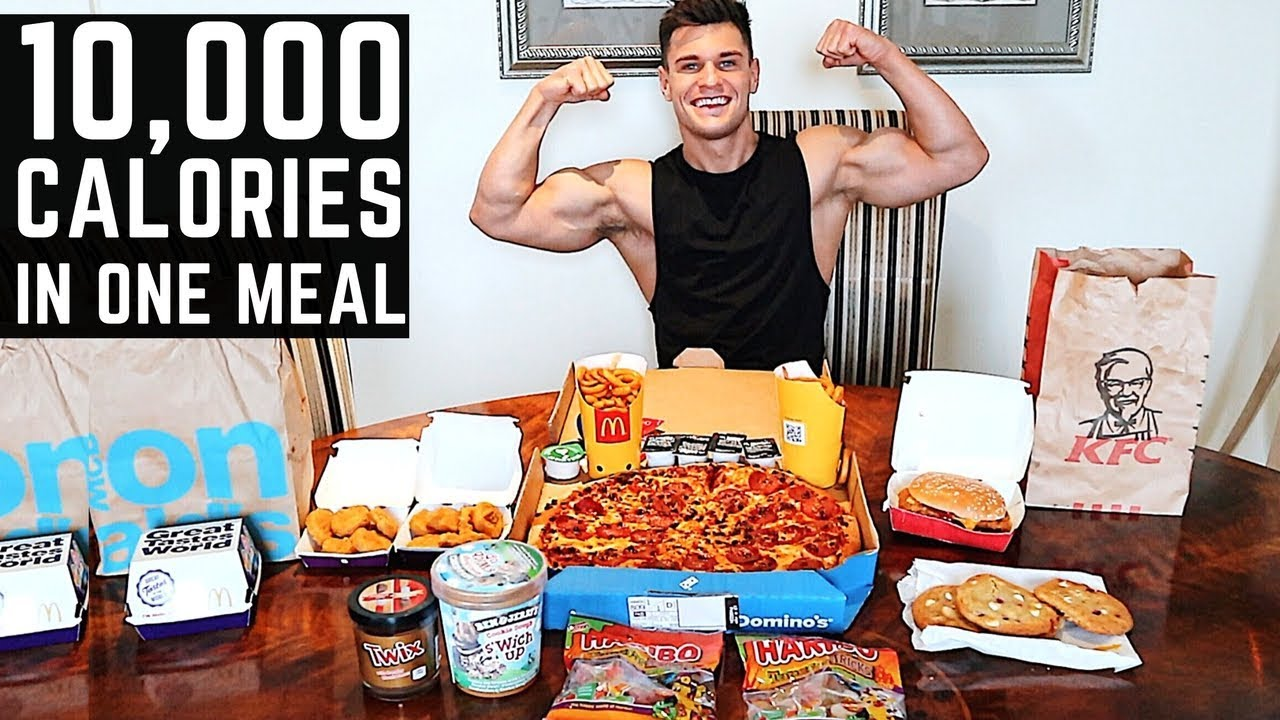 10,000 Calorie Challenge IN ONE HOUR | Epic Cheat Day | Man Vs Food
