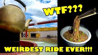 """WTF! Weird """"Cup Noodles"""" Themed Rapids Ride! Yomiuriland Japan Onride POV"""
