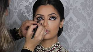Indian | Bollywood |South Asian Bridal Makeup | Start to Finish | BEAUTY BY KIRAN GILL
