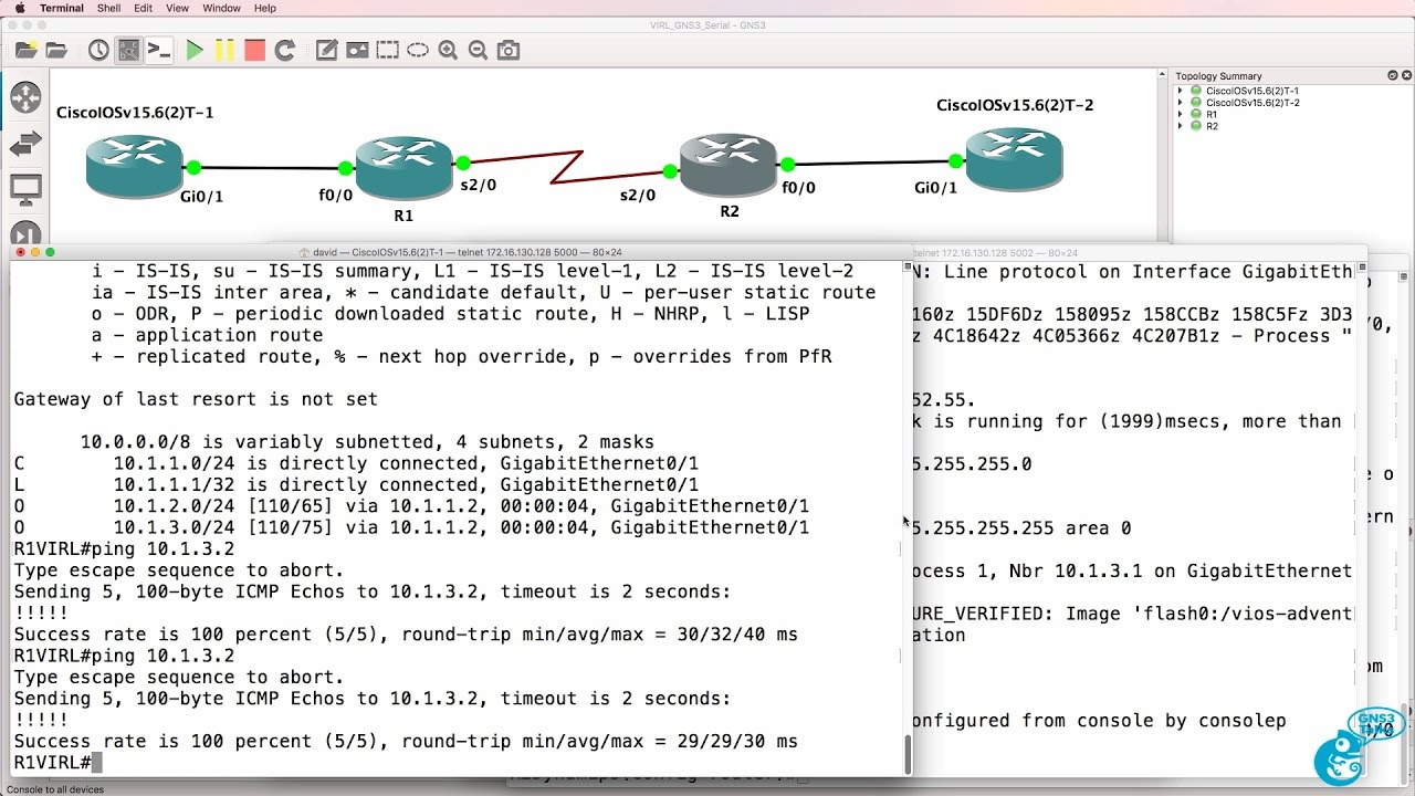 GNS3 Talks: Cisco VIRL with Serial interfaces and GNS3