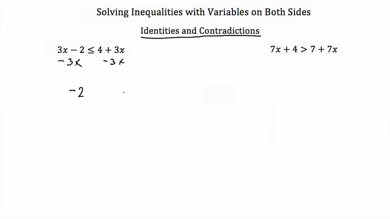 solving inequalities with variables on both sides