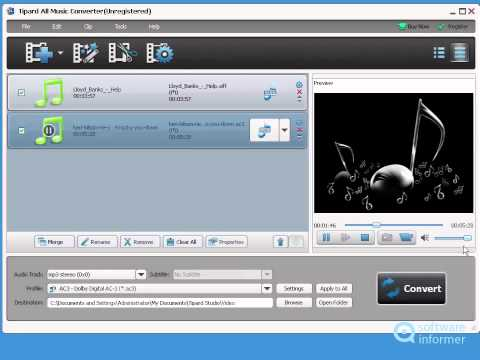 Tipard All Music Converter  tutorial