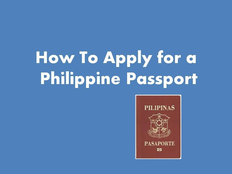 How to apply for a philippine passport youtube ccuart Image collections