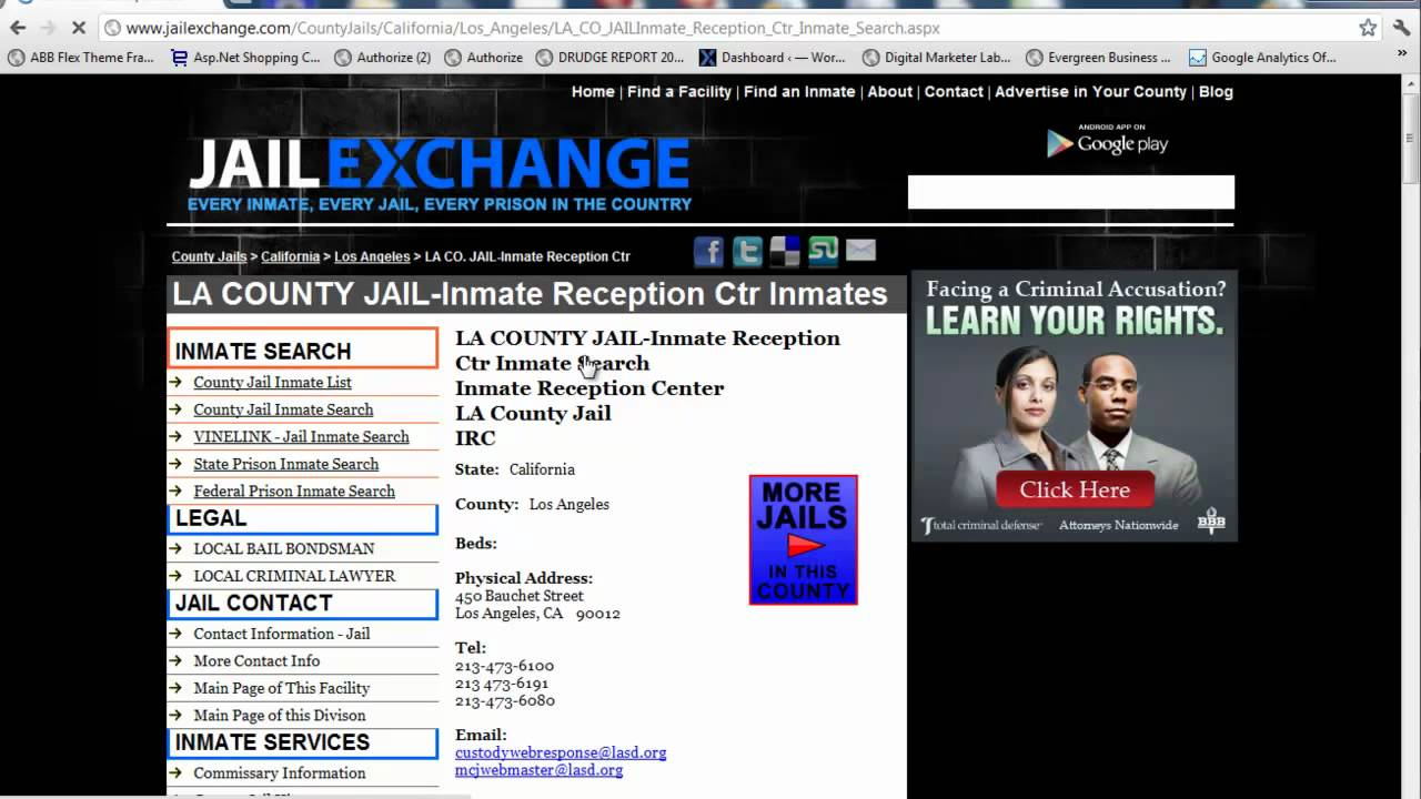 LA County Jail Inmate Search - LA Booking