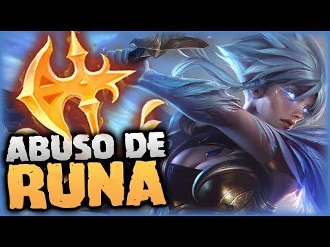 ¡STOMPEO SIN TENER NI IDEA! - ¡ABUSO DE RUNA! | RIVEN TOP