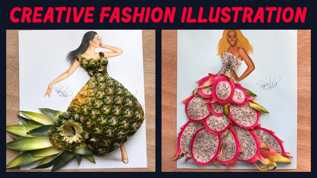 Creative Fashion Illustration 2018 Dresses Out Of Everyday Objects 4 Youtube