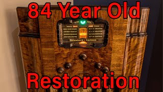 84 Year Old Radio Receiver Restoration! Stromberg-Carlson 145L