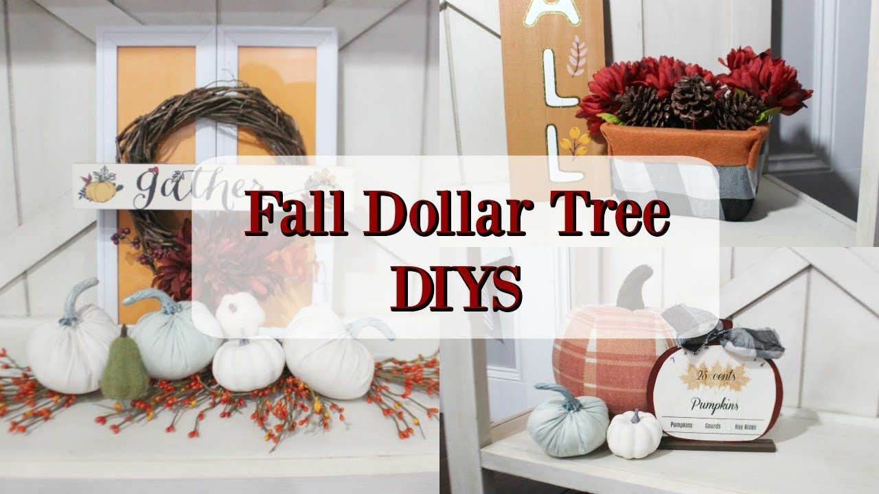 Fall Dollar Tree Decor Diys 2019