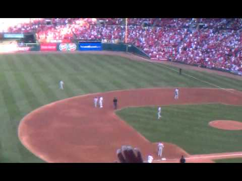 2011 NLDS GAME 3 St. Louis Cardinals Pujols 2B