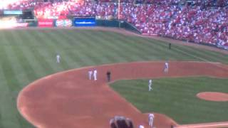 2011 NLDS GAME 3 St. Louis Cardinals Pujols 2B
