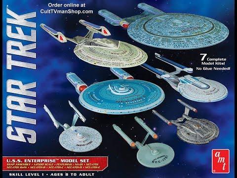 AMT USS Enterprise Model Set 1/2500 7 complete Model Kits