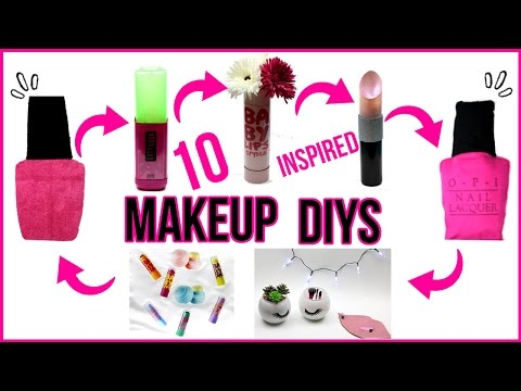 10 DIY PROJECTS YOU NEED TO TRY! Makeup Inspired Room Decor & Organization!Baby Lips,EOS & More DIYs